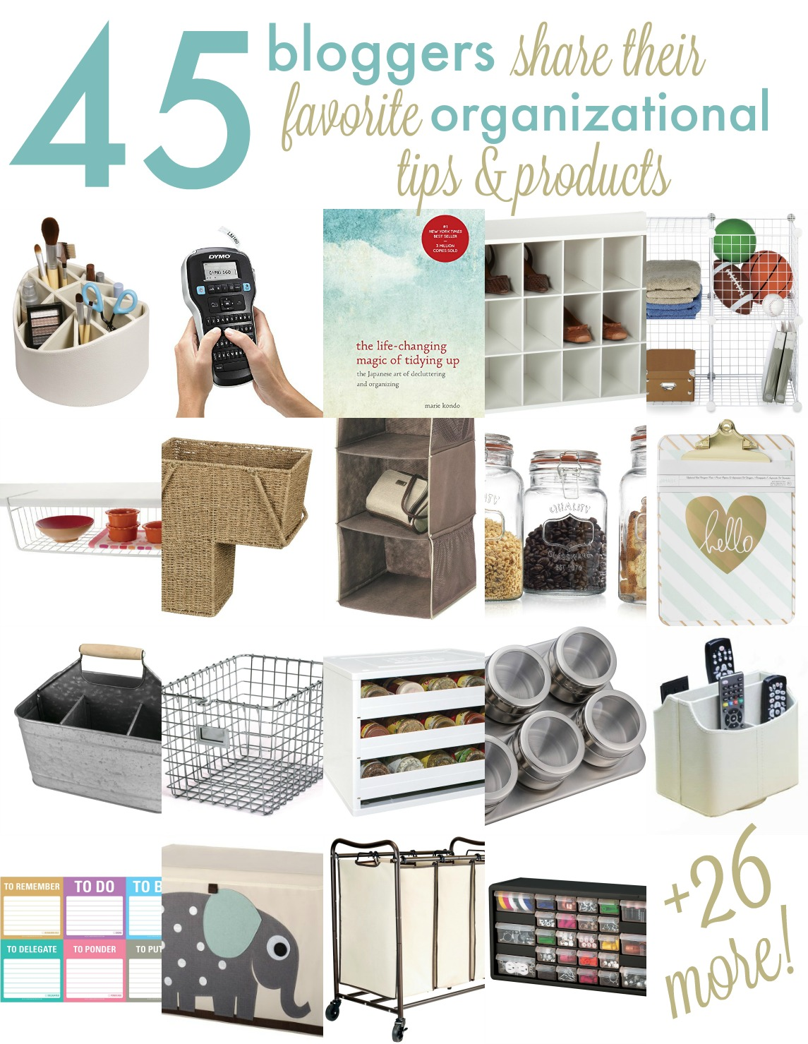 Check out 45+ of the best products to get your home and life organized today!