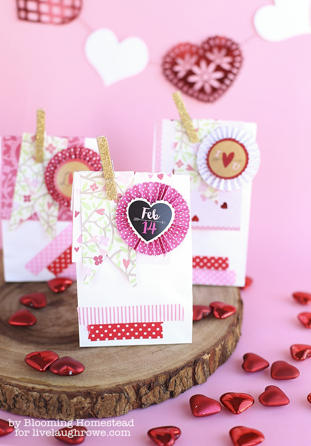 Valentines Favor Bags by Blooming Homestead