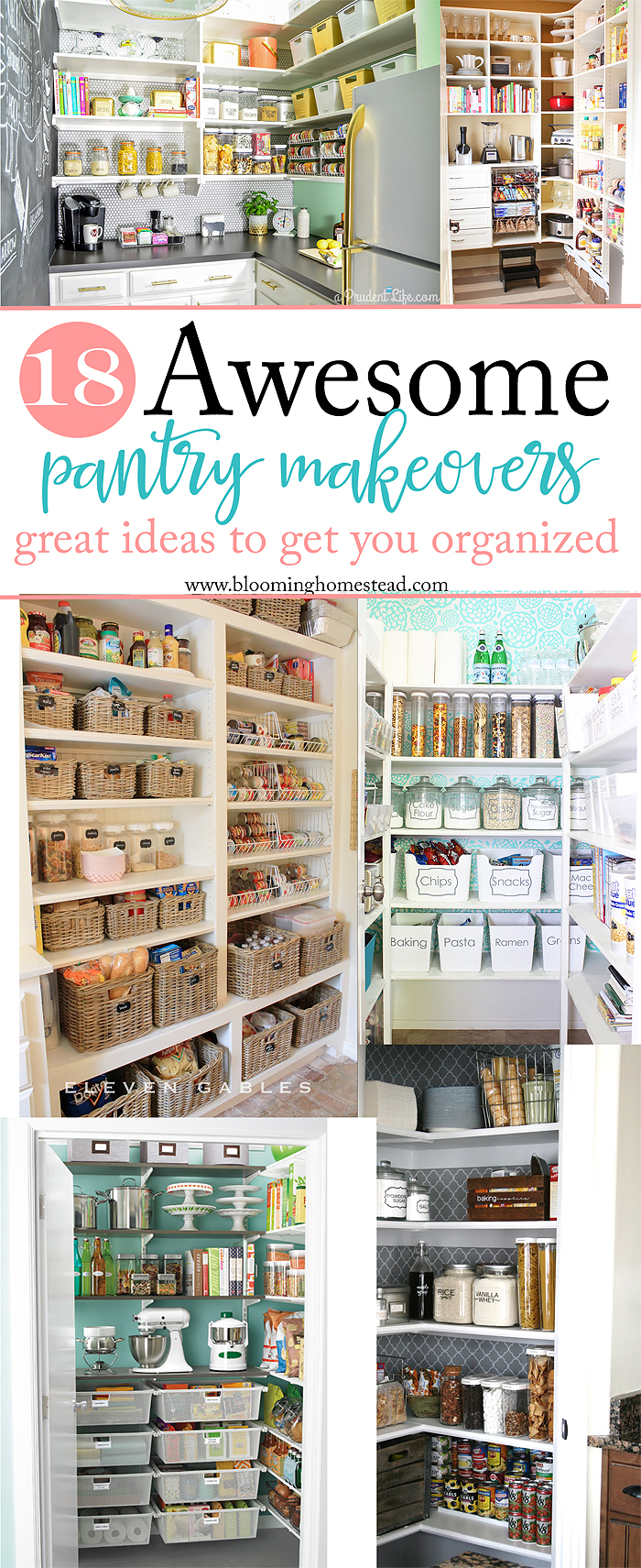Looking to get organized? Check out this collection of 18 Awesome Pantry Makeover Ideas