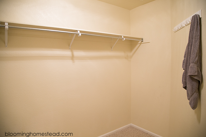 Disfunctional master bedroom closet makeover