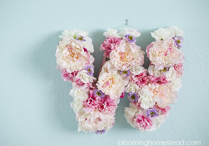 DIY-Floral-Letter