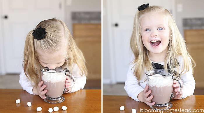 The Best hot chocolate using TruMoo chocolate milk as a base! So yum!