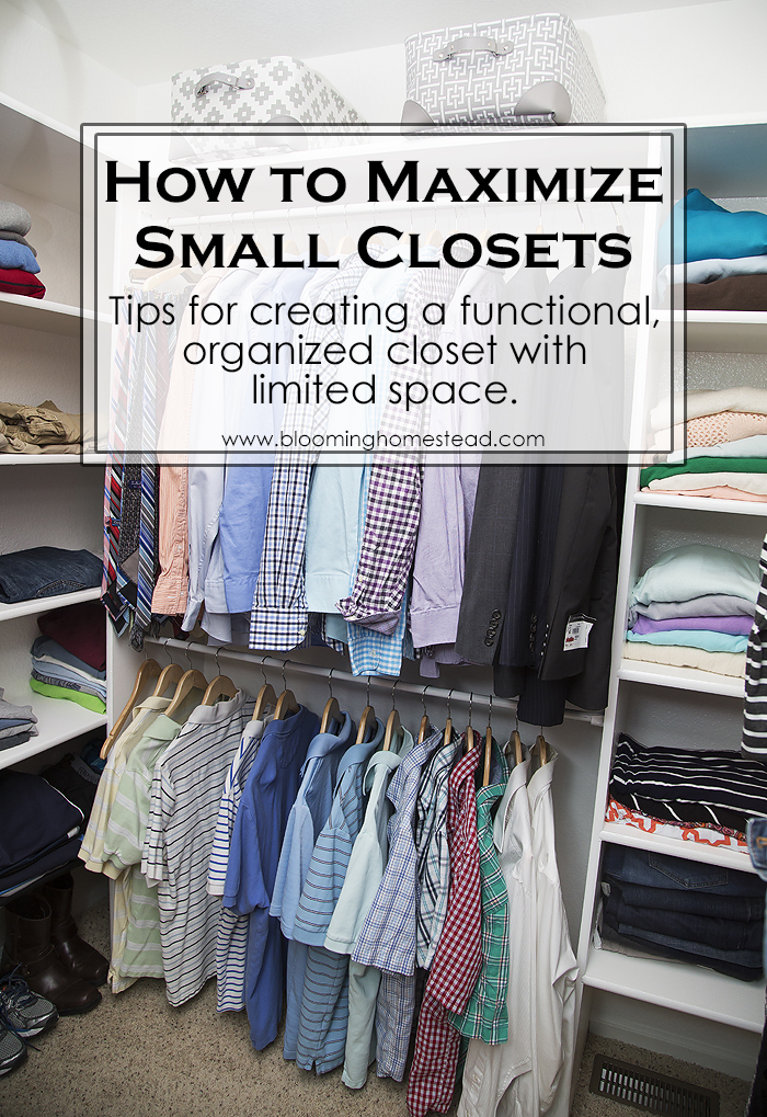 Master closet makeover blooming homestead for How to organize your small bedroom closet