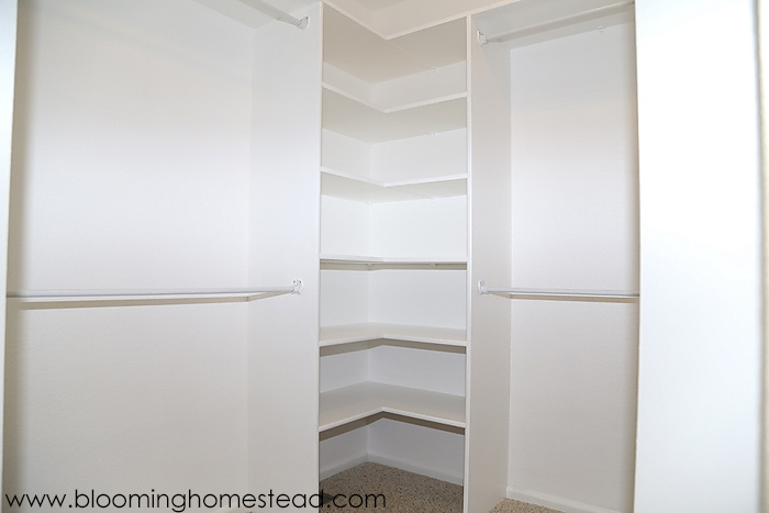Master Closet Makeover at Blooming Homestead