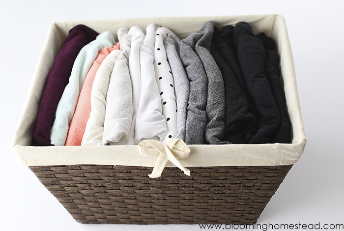 Fun and simple way to organize t-shirts