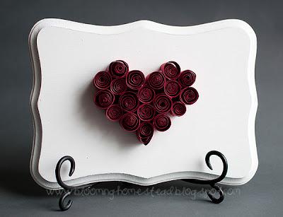 Easy quilled Valentine heart