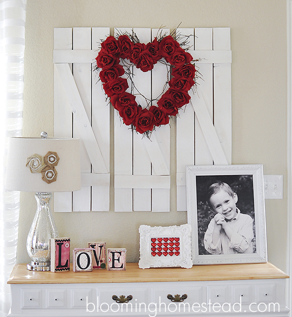 DIY Red Rose Wreath for Valentines Day