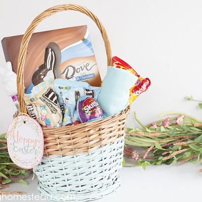 DIY Colorblock Easter Basket