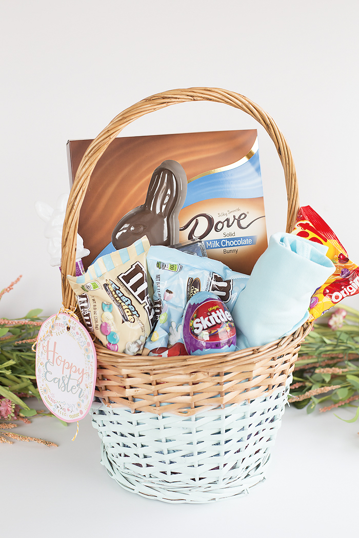 Easy diy colorblock Easter basket tuturial