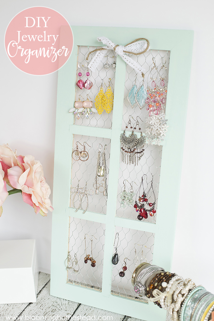 DIY Jewelry Organizer by Blooming Homestead