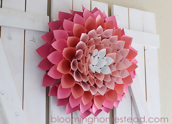 DIY Paper-Wreath-By-Blooming-Homestead3