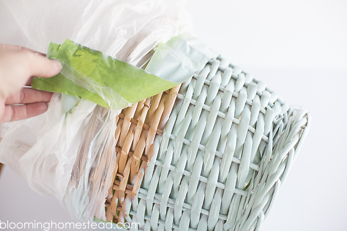 DIY colorblock basket tutorial