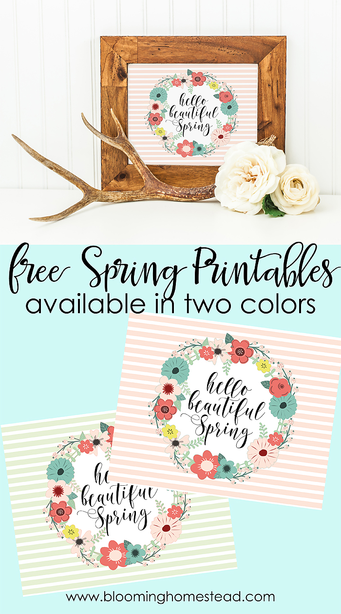 Free Spring Printables that are a perfect and inexpensive way to update your home decor