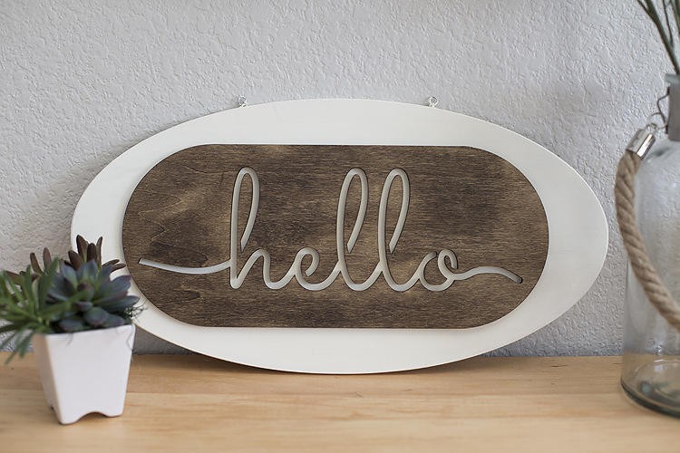 Hello Entry Sign
