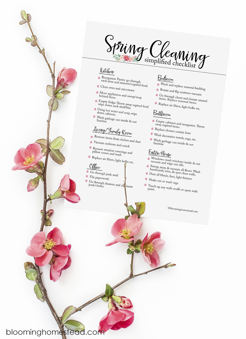 Get this free printable Spring Cleaning Checklist, along with great tips to conquer Spring Cleaning!