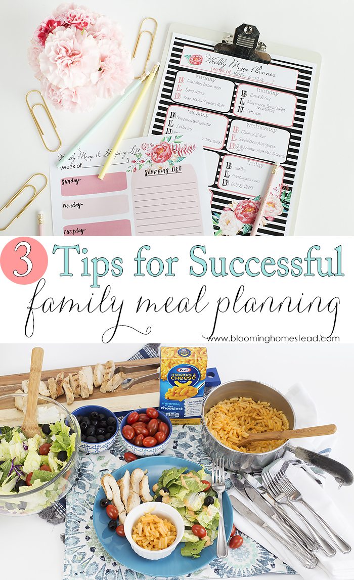 Successful Meal Planning with children