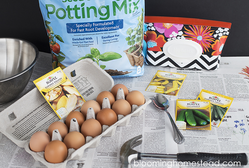 Supplies needed for egg planter copy