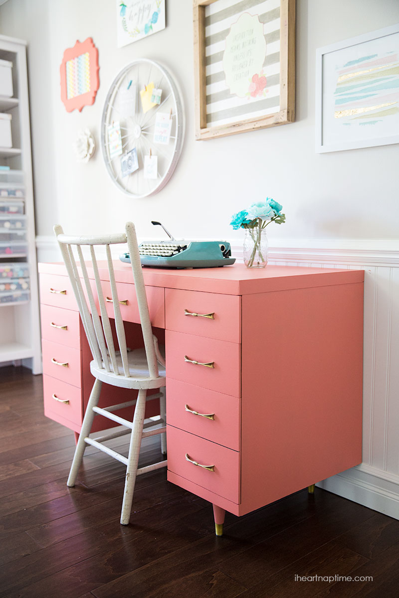 chalk-paint-desk i heart naptime