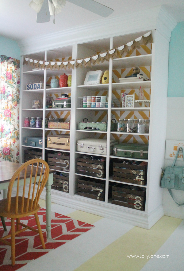 lollyjane-craft-room-herringbone-bookcase