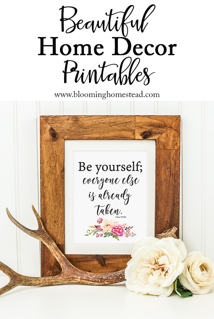 Check out this beautiful home decor printable for download.