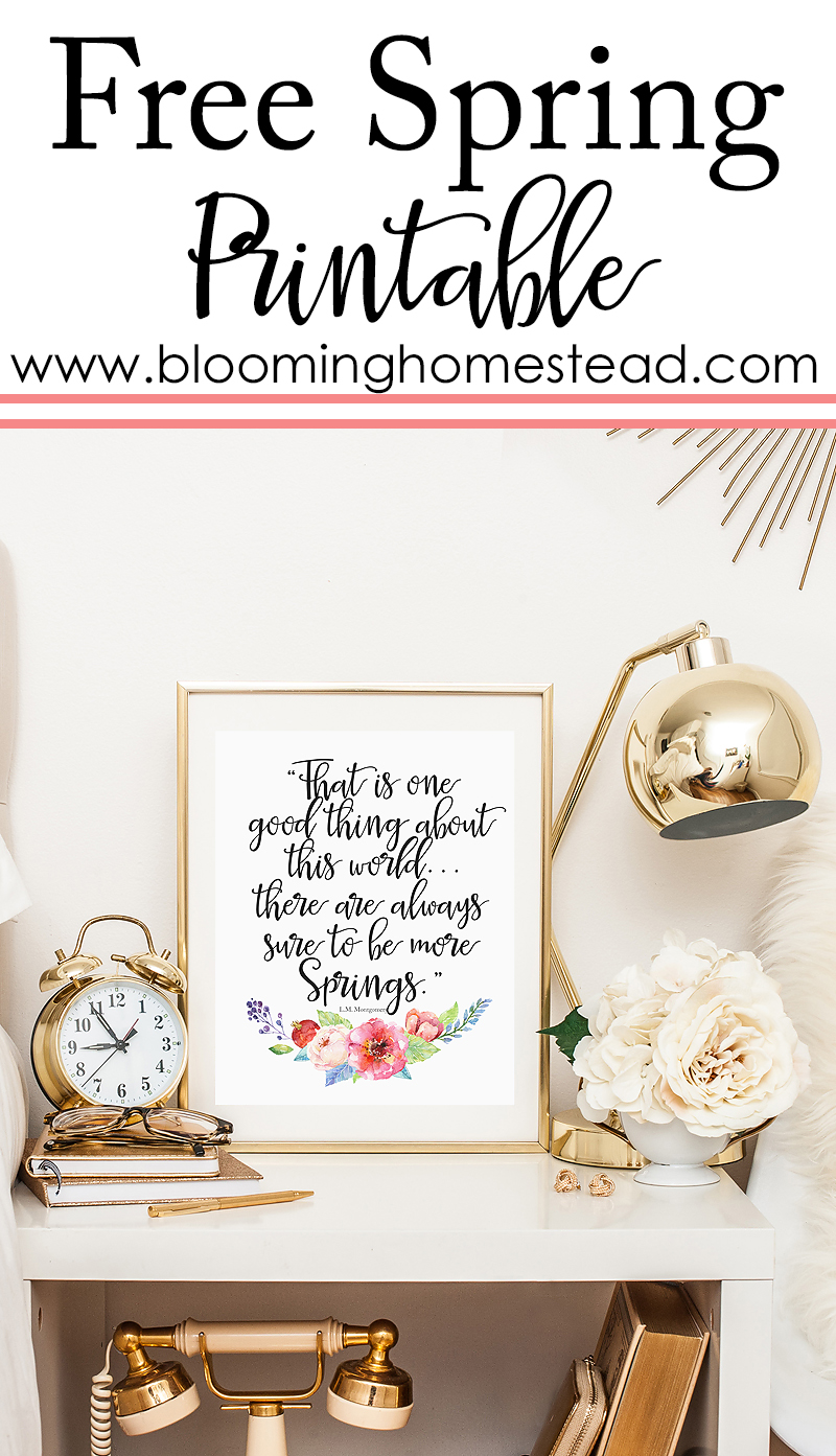 Lovely Spring Printable by Blooming Homestead