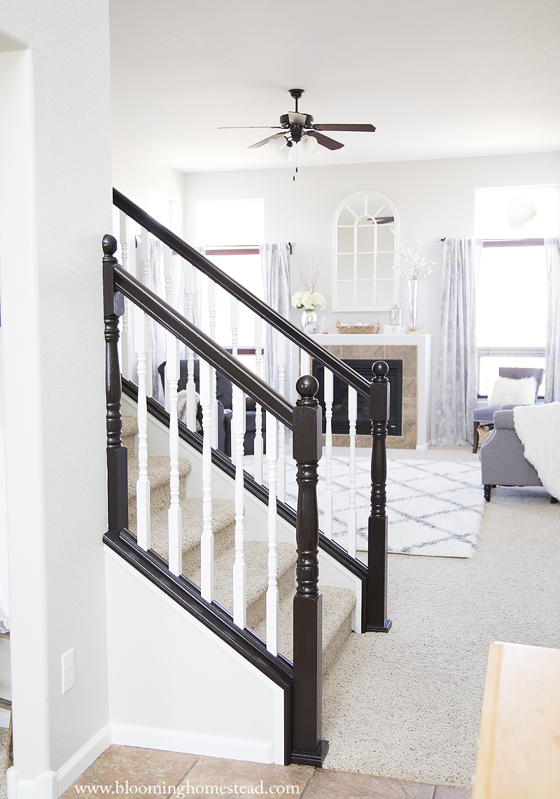 You Wonu0027t Believe This Gorgeous Stair Railing Makeover! And You Can Do It