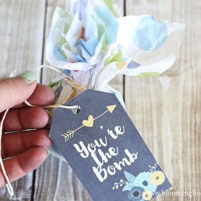 Printable Bath Bomb Gift Tags