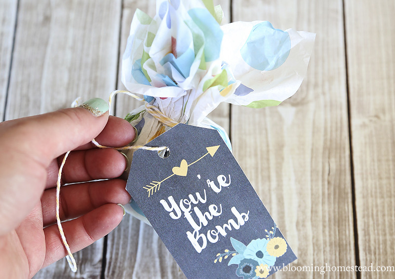 Printable Bath Bomb Gift Tags
