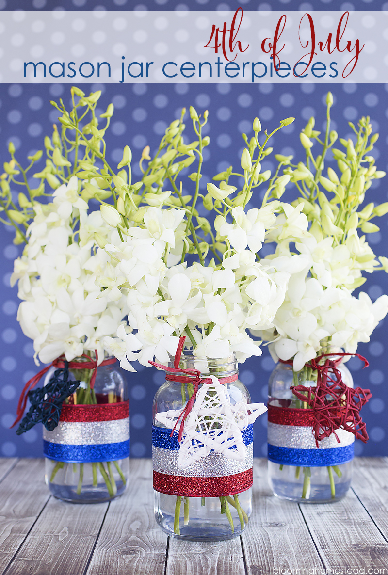 Simple and easy 4th of July Centerpiece tutorial