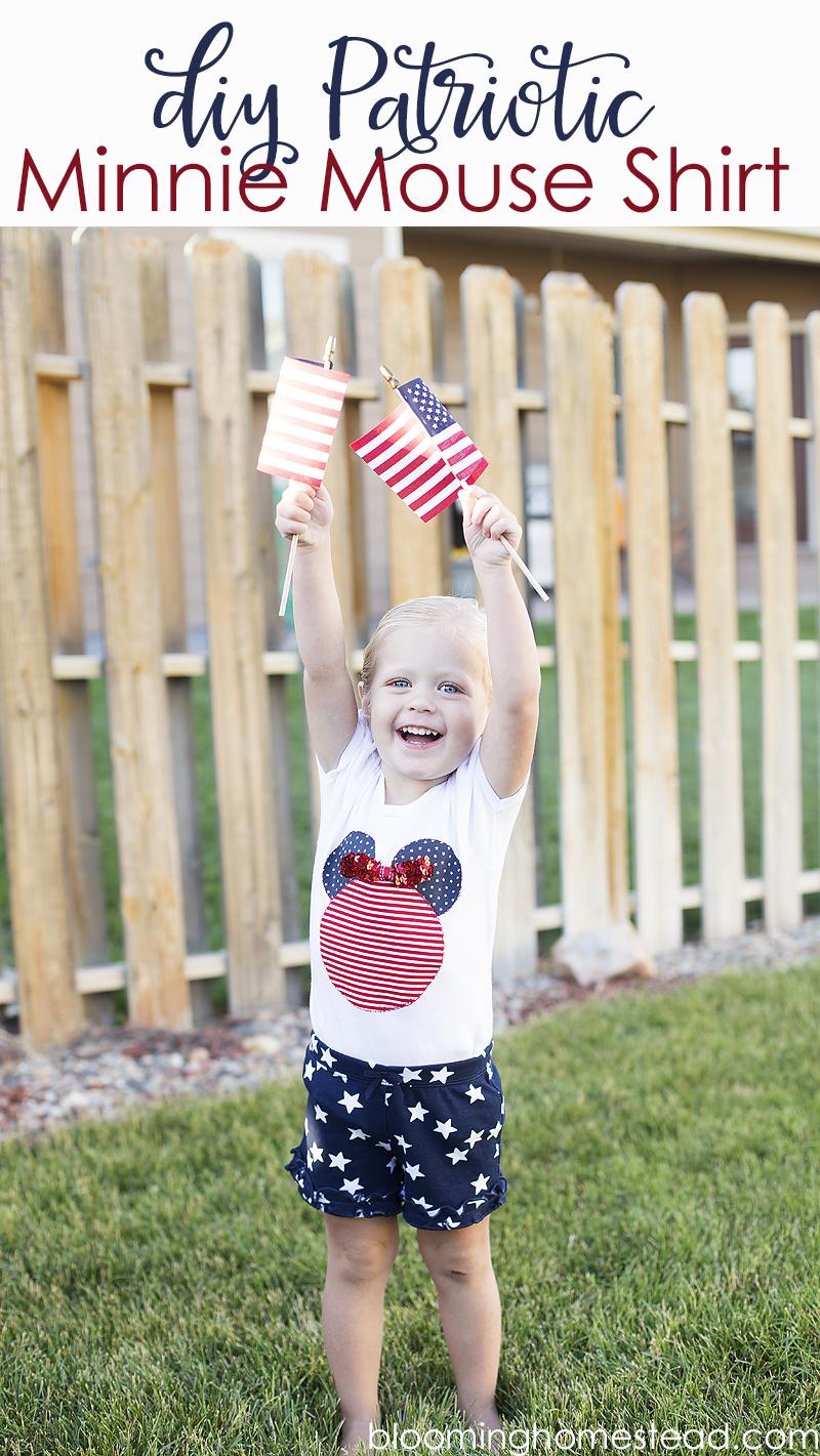 DIY Disney inspired Patriotic shirt
