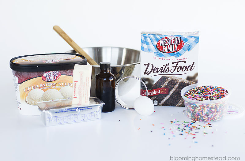 Ingredients for Ice Cream Sandwiches