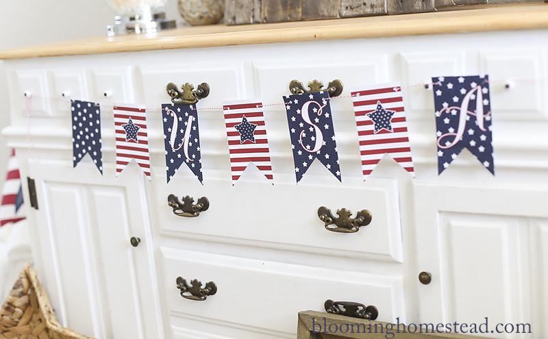 U.S.A. Printable Banner