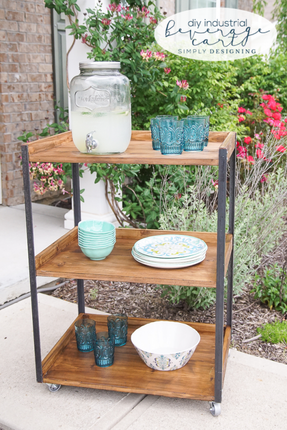 CCDIY-Industrial-Beverage-Cart-this-outdoor-beverage-cart-is-simple-to-make-and-perfectly-industrial-and-rustic
