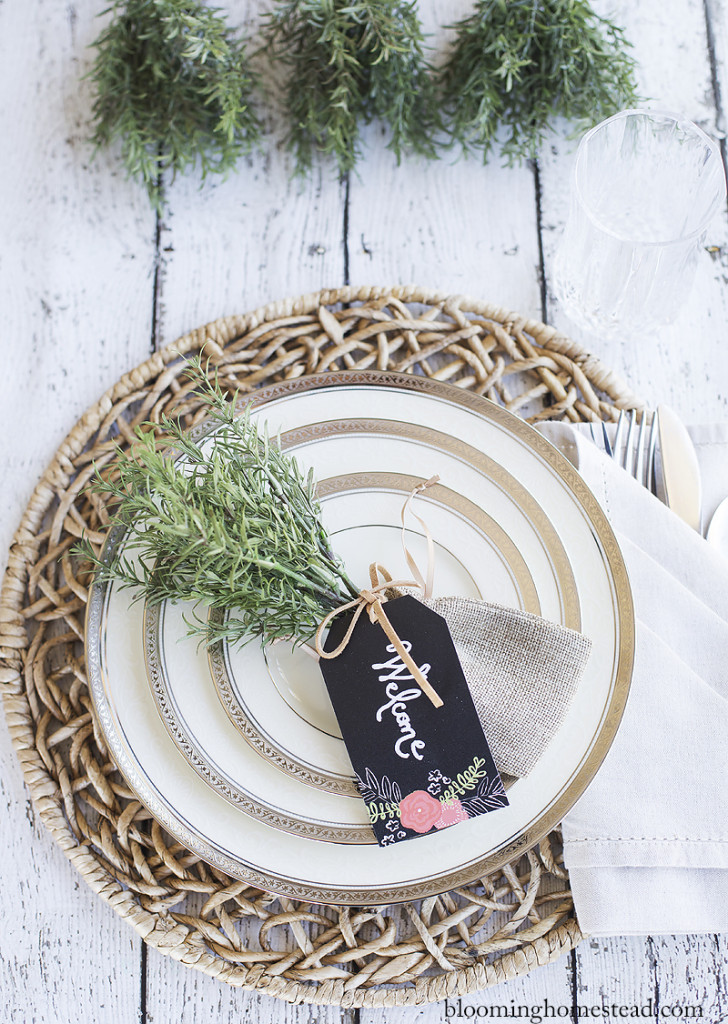 Place setting by Blooming Homestead