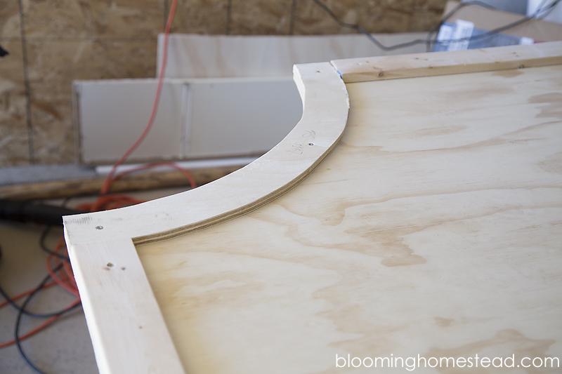 DIY Headboard Corner frame