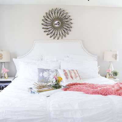 DIY Headboard with Nailhead Trim
