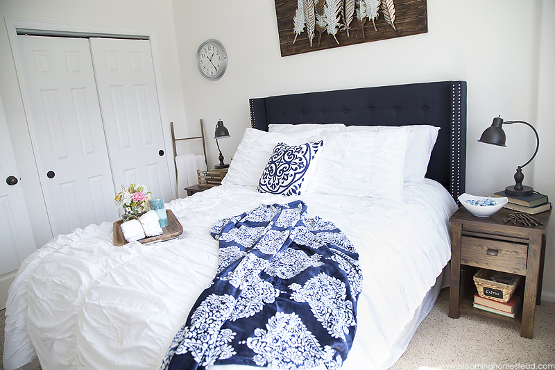 Modern Farmhouse Bedroom Makeover by Blooming Homestead