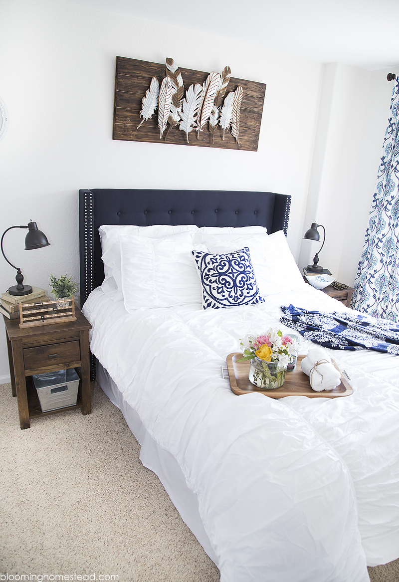 modern farmhouse guest bedroom makeover - blooming homestead