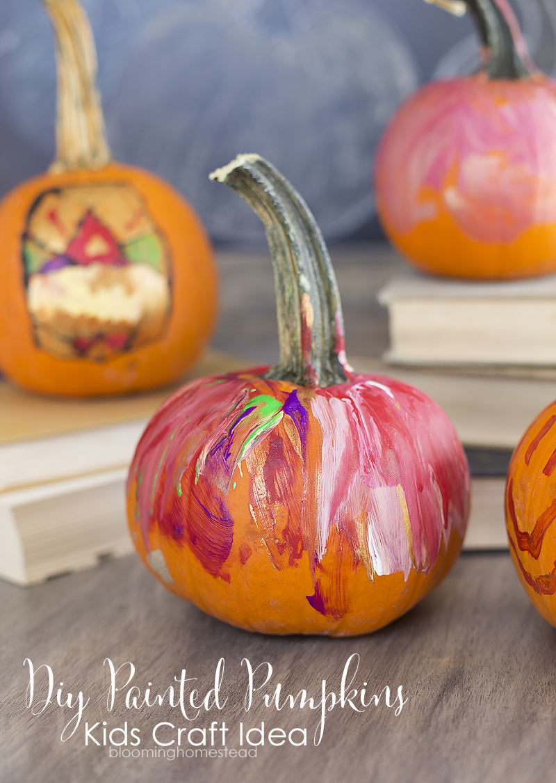 diy painted pumpkins blooming homestead