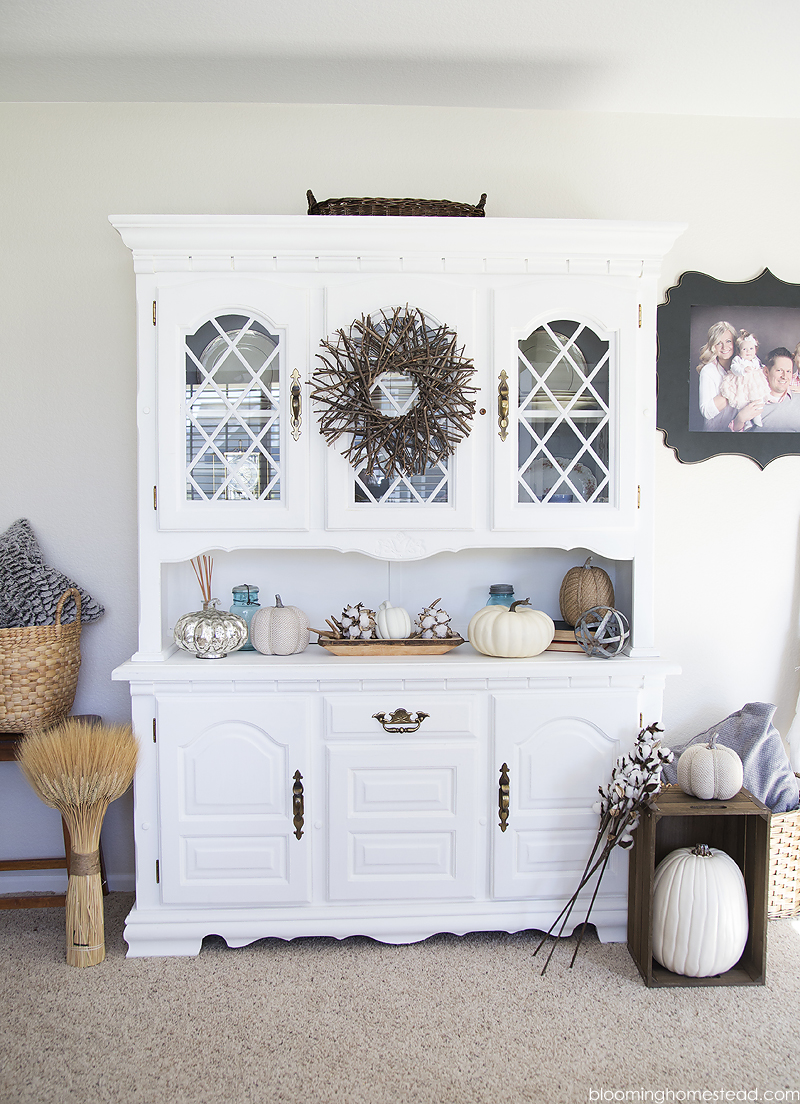 Fall home tour blooming homestead for Hutch decor