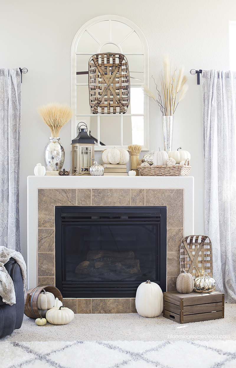 fall-mantle-decorating-at-blooming-homestead
