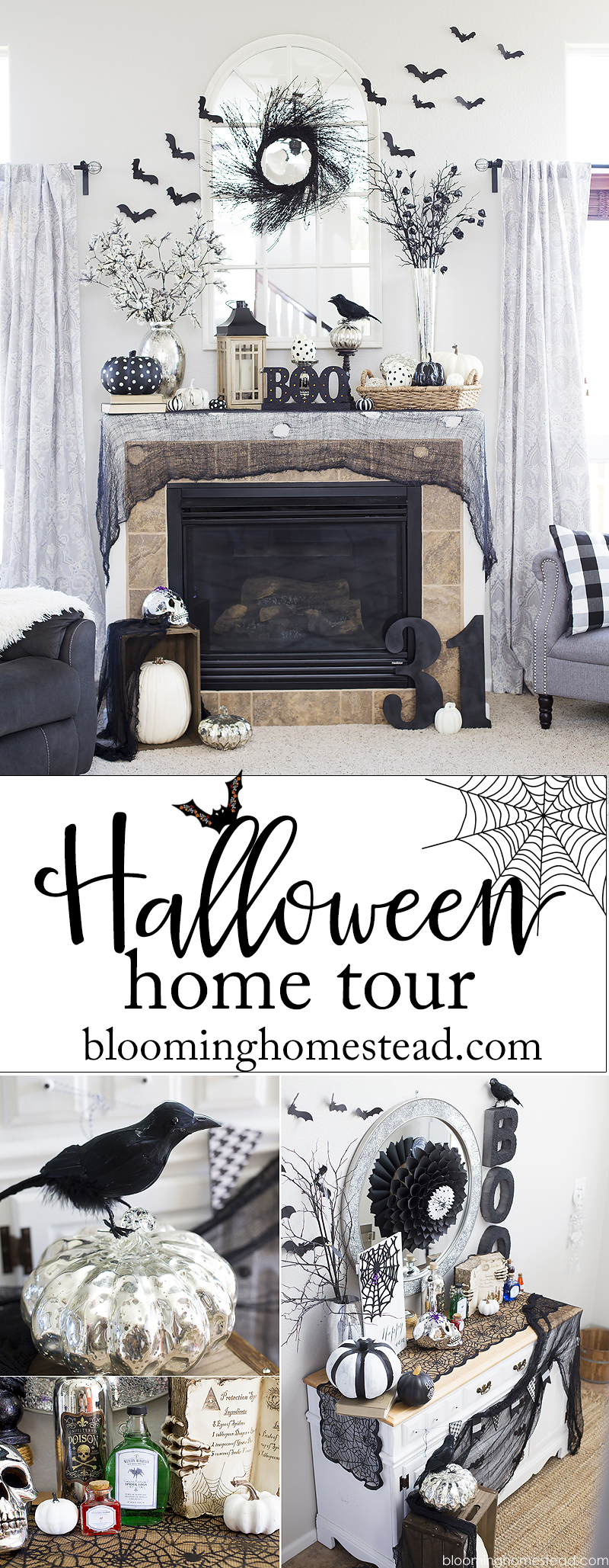 Halloween Home Tour - Blooming Homestead