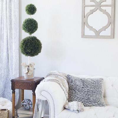 DIY Boxwood Topiary