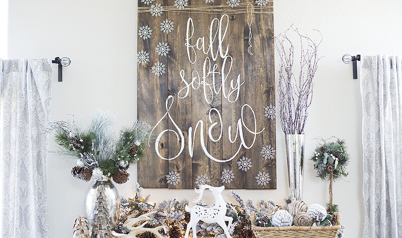 Rustic Holiday Ornament Display
