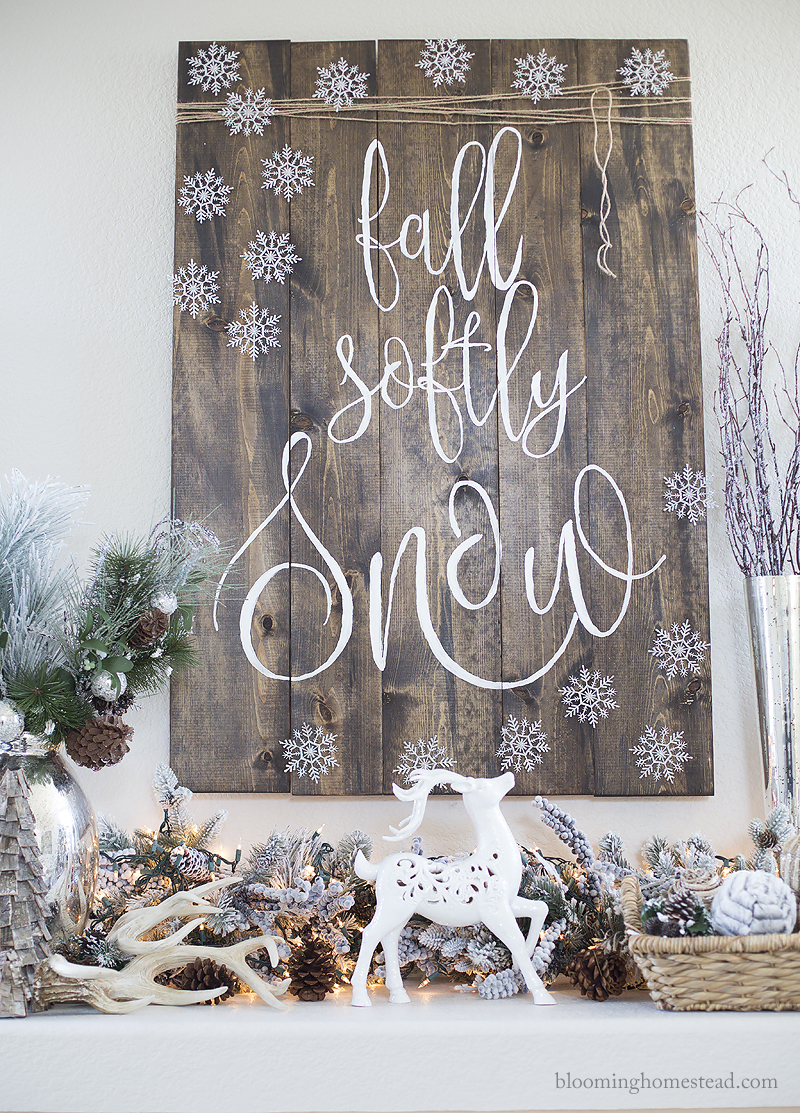 fall-softly-snow-sign-with-ornaments-by-blooming-homestead