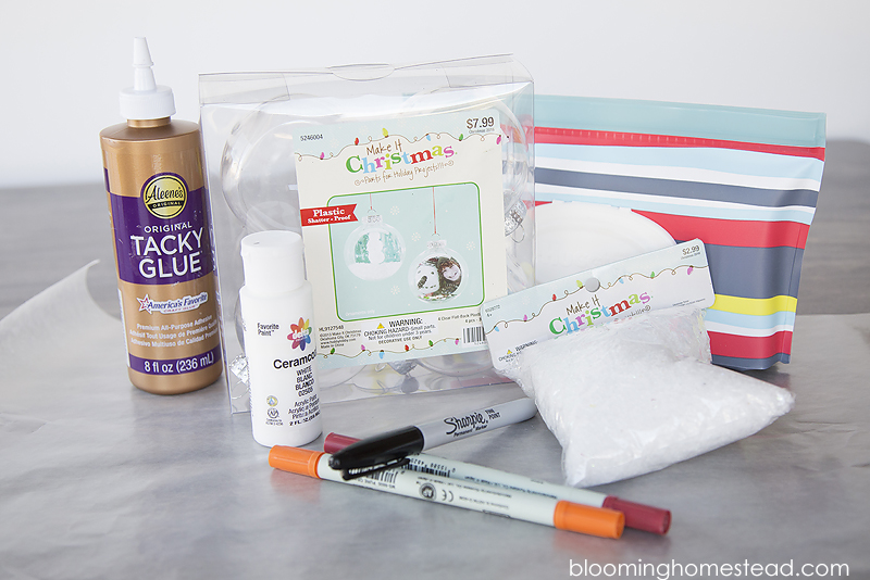 Supplies to make easy kids craft