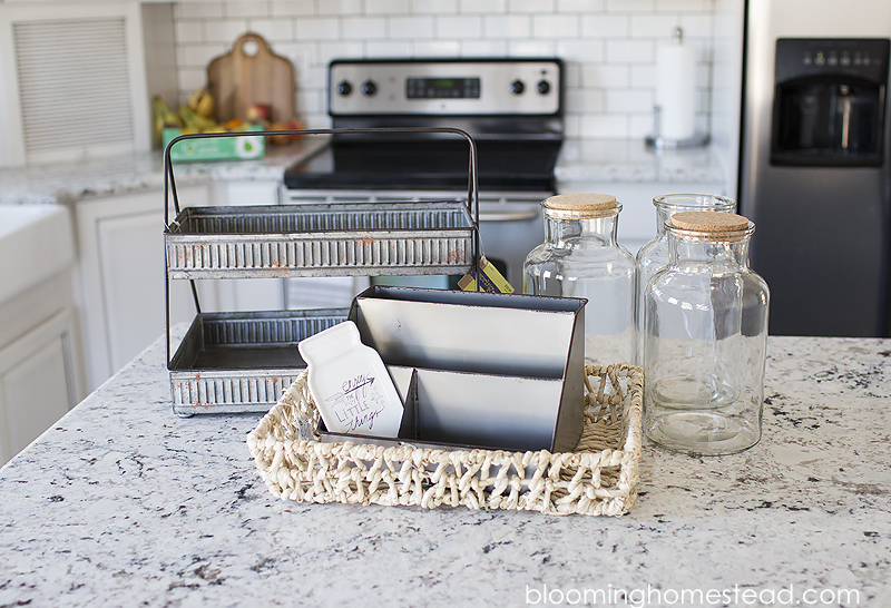Kitchen Counter Organization Ideas kitchen countertop organization ideas - blooming homestead