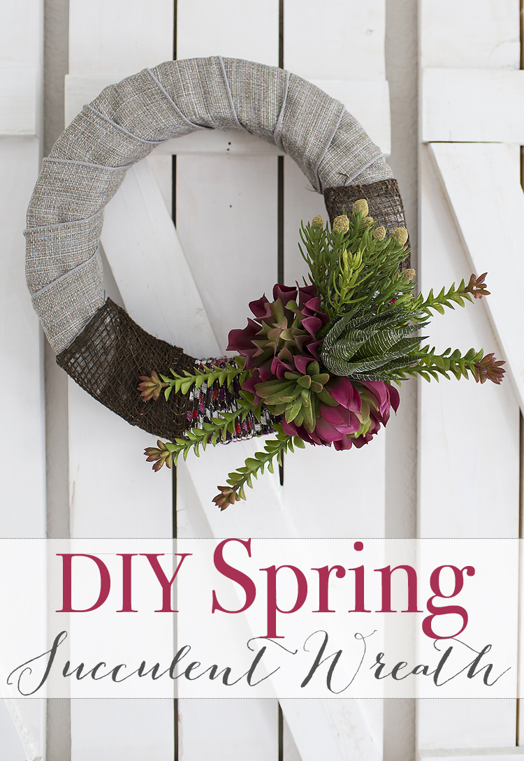 Beautiful DIY Spring Succulent Wreath