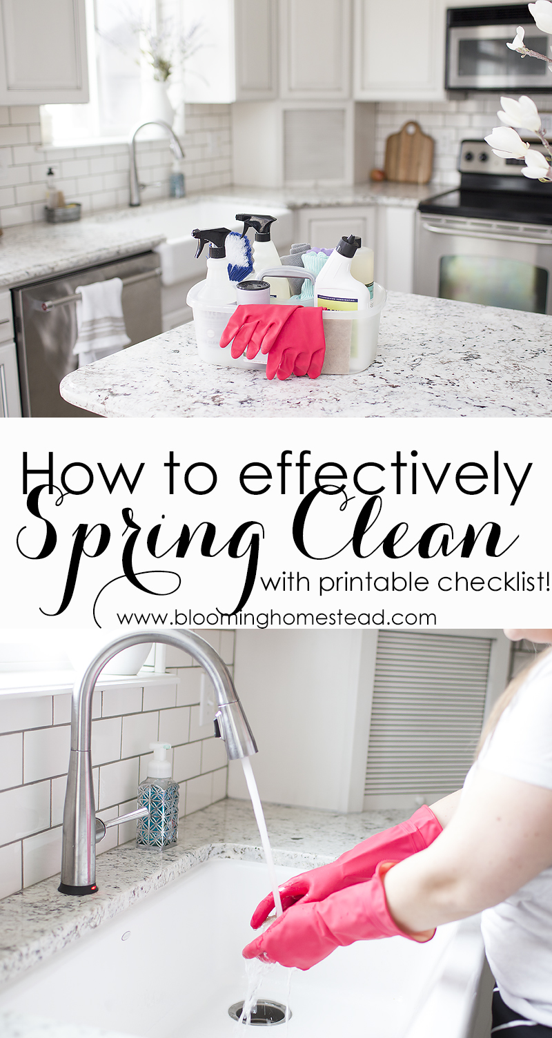 How to effectively Spring Clean