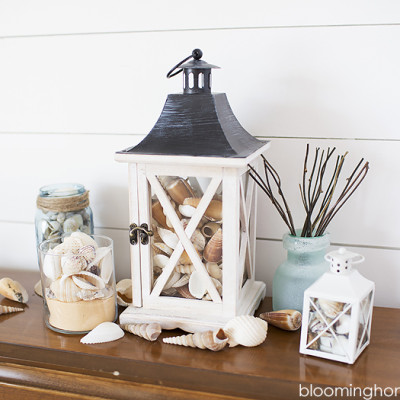 Beachy Lantern Centerpiece